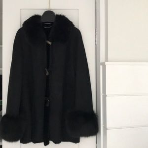 Genuine shearling coat w fur coalition and wrists